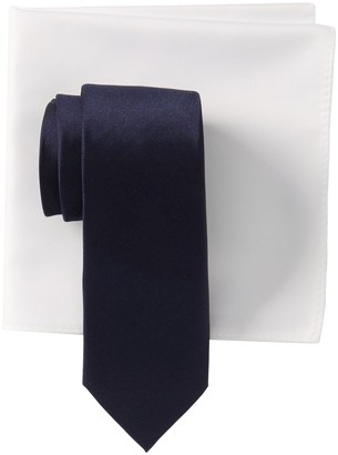 14th & Union Silk Solid Satin Tie & Pocket Square Set