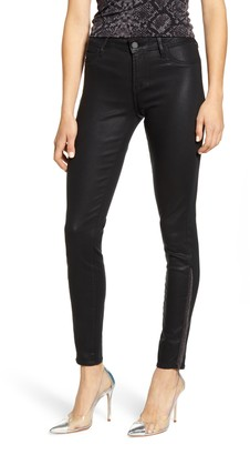 Articles of Society Sarah Fringe Coated Ankle Skinny Jeans