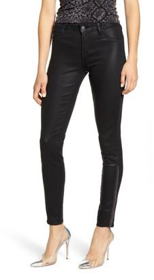 Articles of Society Coated Fringe Hem Skinny Jeans