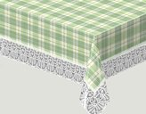 Meiwa Gravure Tablecloth Exceed Series San Marino plaid 130 ~ 170cm green
