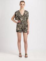 Wren Silk Cheetah-Print Jumpsuit