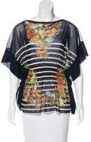 Jean Paul Gaultier Soleil Printed Sheer Blouse