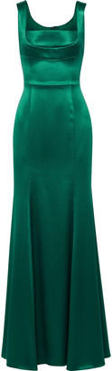 Dolce & Gabbana Fluted Silk-blend Satin-twill Gown