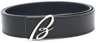 Brioni B logo belt