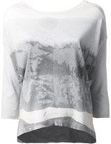Raquel Allegra tie-dye T-shirt - women - Cotton/Polyester - 2