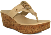 Fashion Focus Natural Bee Embellished-Strap Wedge Sandal