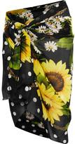 Dolce & Gabbana Printed Cotton-gauze Pareo - Marigold