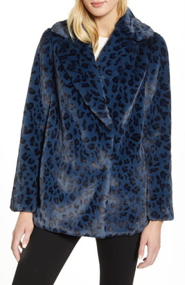 Ted Baker Faux Leopard Fur Jacket