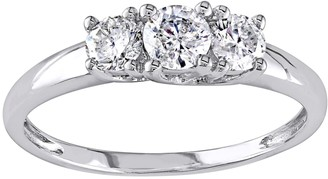 Stella Grace 14k White Gold 1/2 Carat T.W Diamond 3-Stone Engagement Ring