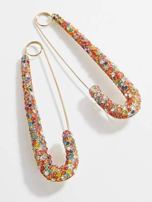 BaubleBar x Montserrat Large Pave Safety Pin Earrings