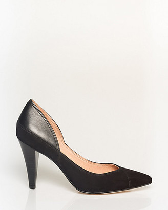 Le Château Suede & Leather Pointy Toe Pump