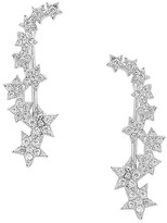 Thumbnail for your product : Sterling Forever Crystal Star Ear Crawlers