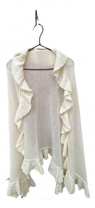 Non Signé / Unsigned Non Signe / Unsigned Kimono Ecru Wool Knitwear