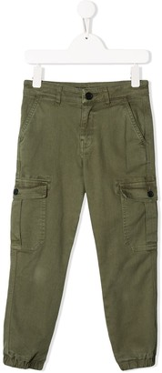 Zadig & Voltaire Kids David tapered-leg cargo trousers