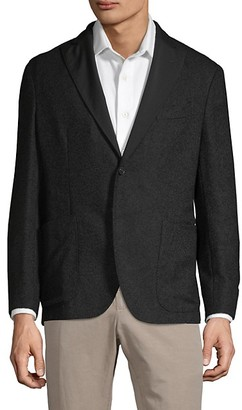 Boglioli Herringbone Textured Alpaca-Blend Jacket