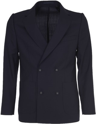 Officine Generale Blue Double-breasted Jacket
