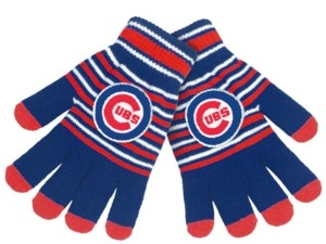 Forever Collectibles Chicago Cubs Acrylic Stripe Knit Glove