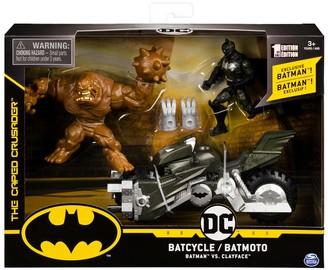 Spin Master Toys Exclusive Batman, Clayface & Batcycle 3-Piece Action Figure Set