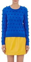 Lisa Perry WOMEN'S POM-POM SWEATER-BLUE SIZE M