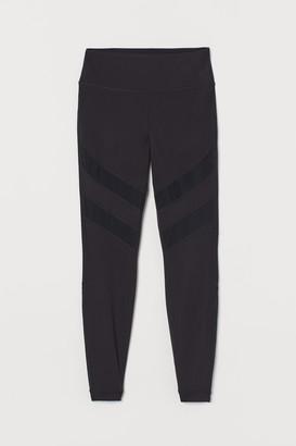 H&M Mesh-detail sports tights