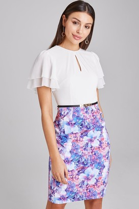 Paper Dolls Theale Floral-Print Belted Dress