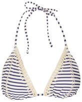 Topshop Stripe crochet triangle bikini top