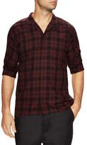 Chapter Mith Linen Checkered Spread Collar Shirt