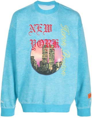 Heron Preston New York print sweater