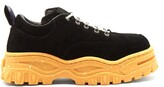 Eytys Angel Exaggerated-sole Leather Trainers - Mens - Black