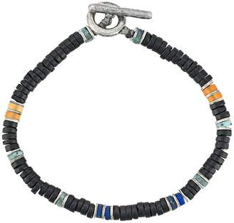 M. Cohen frosted onyx beaded bracelet