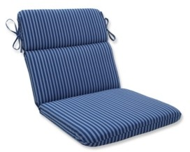 Pillow Perfect Resort Stripe Rounded Corners Chair Cushion