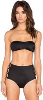 Norma Kamali Side X's Bandeau Bikini Top