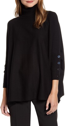 Anne Klein Dolman Sleeve Turtleneck Sweater