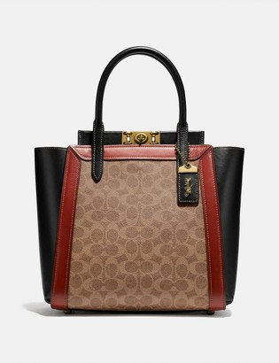 Coach Troupe Tote In Signature Canvas