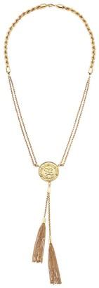 Fendi Monogram Medal Pendant Necklace