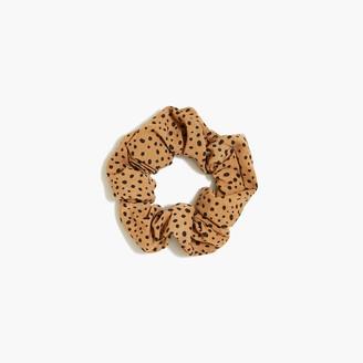 J.Crew Scatter dot animal-print scrunchie