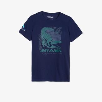 Lacoste Women's SPORT Miami Open Crocodile Print T-shirt