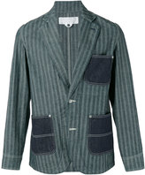 Comme des Garcons striped denim pocket blazer - men - Cotton - S