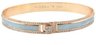 Alessa White Gold and Diamond Spectrum Border Bangle