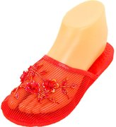 Cammie Women's Floral Beaded Mesh Chinese Slippers