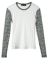 Yigal Azrouel striped mesh blouse