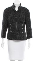 Chanel Zipper-Accented Double-Beasted Jacket