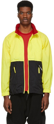 Opening Ceremony Black and Yellow Crinkle Storm Jacket