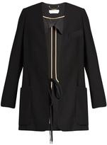 Chloé Collarless crepe blazer