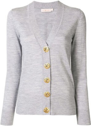 Tory Burch V-neck contrast button cardigan