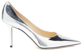 Jimmy Choo Love 85 Metallic-leather Pumps - Silver