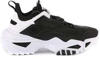 Emporio Armani Black Chunky Sneaker Mesh Detail