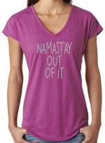 Yoga Clothing For You Ladies NAMAST'AY OUT OF IT V-neck Tee, XL