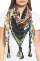 Johnny Was Women's Mabel Silk Square Scarf