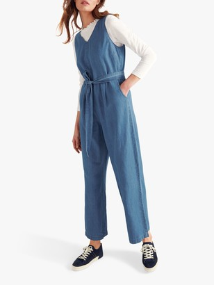 White Stuff Jacqueline Denim Jumpsuit, Blue